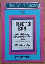 The Scottish Ballet programme Eden Court Theatre 1981 Les Sylphides Cheri stain