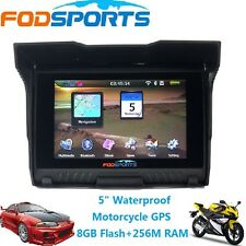 "5"" TFT Motorcycle Car GPS Waterproof Bluetooth 8GB Touch Screen Navigator+Maps"