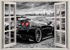 Nissan Skyline GTR Nismo coche 3D Efecto Póster De Pared Pegatina De Ventana Vinilo Arte 99