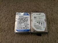 "250 GB 2.5"" HDD Internal Laptop Hard Drive SATA Various Major Brands"