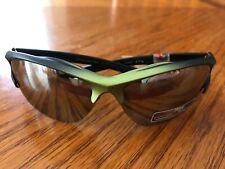 Sunglasses, Sport, Mirrored, Metallic Olive Green Colored Rim