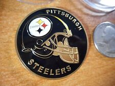 NFL Pittsburgh Steelers Football Team Challenge Coin / Medal Comes w Hard Case