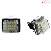 2X Black License Plate LED Lights Error Free For Mercedes Benz W221 W204 W207 NE