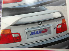 ZENDER MAX BMW E46 GENUINE REAR BOOT TRUNK SPOILER. SEDAN LIP WING 318I 328I 325