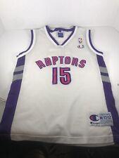TORONTO RAPTORS VINCE CARTER #15 NBA JERSEY CHAMPION M10-12 Youth RARE WHITE