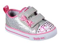 Twinkle Toes: Shuffles - Itsy Bitsy Light Up Girls Shoe trainer pumps UK 8