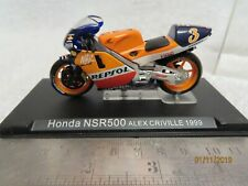 "Deagostini 1:24 Scale HONDA NSR500  "" ALEX CRIVILLE 1999"" in case~"