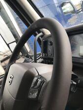 Para Volvo Camión nh 12 Cuero Italiano Marrón Cubierta del volante Marrón Puntada
