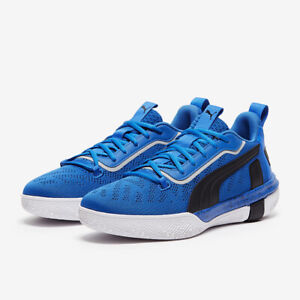 Puma Legacy Low Basketball Shoes Mens Size 10 Strong Blue/Black/White 193601-04
