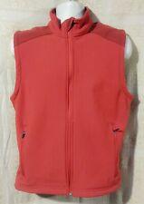 L.L. BEAN Nylon Fleece Lined Full Zip SHELL VEST Men's SMALL Regular RED