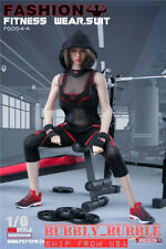 "1/6 Female Fitness Gym Wear Set For 12"" PHICEN Hot Toys Female Figure Doll ☆USA☆"