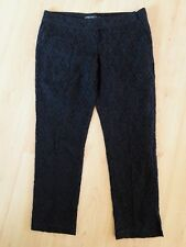 Gorgeous Black Lined Lace Style Trousers by Mela Loves London - Size Med - Fab!