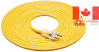 Heavy Duty Lighted Extension Cord W/Durable Clear Molded Plug Indoor Outdoor Use