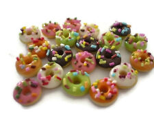 20 Loose Donut  Mix  Dollhouse Miniatures Food Bakery Supply Deco
