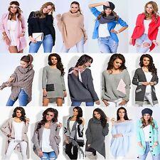 █■█ █ ▀█▀  Neu Damen Sweatshirt Pullover Cardigan Strickjacke Poncho 27 Modelle