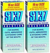 S.T.37 ST37 Mouth Wash Oral Pain & First Aid Antiseptic Solution 16oz ( 2 pack )