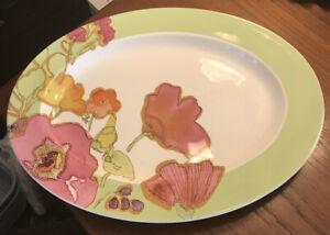 Lenox FLORAL FUSION Kiwi Oval Serving Platter 9930957 NEWkjkjl