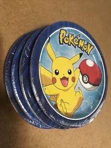 Pikachu Pokémon Core Birthday Party Plates 8 Count Packs 2017 Designware LOT x4