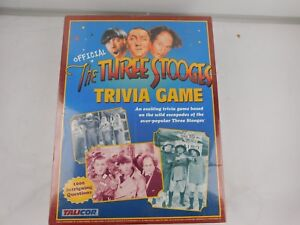 The Three Stooges Trivia Game by Talicor Factory Sealed New