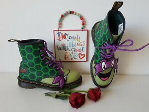 Dr Doc Martens 1460 pascal Turtles Leo Ninja Teenage Donnie green UK5 EU38 US7