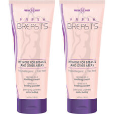 Fresh Breasts by Fresh Body 3.4oz (2 Pack) Antiperspirant Liquid Chafing Powder
