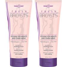 Fresh senos por cuerpo fresco 3.4oz (2 Pack) Antitranspirante líquido el roce en polvo