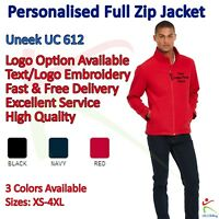 Personalised Classic Softshell Jacket Custom Work Wear Embroidered Uneek UC612