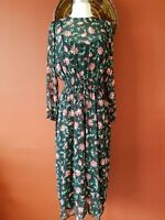 NEW ZARA LONG FLORAL PRINT DRESS SIZE S