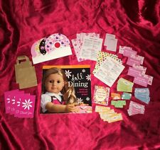American Girl Doll Dining Lot, Set And Idea Craft Book