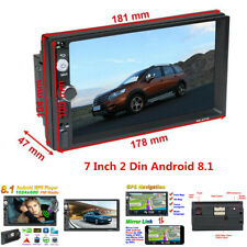 """Android 8.1 Bluetooth 7"""" 2Din Car Multimedia Player GPS Wifi Mirror Link AUX SWC"""