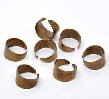 10 Supports de Bague Couleur cuivre 17.5mm