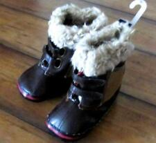 BABY GAP ~New! NWT Baby Boy's 4 ~Soft Sole Faux Leather Fur Winter Boots Booties