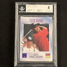 Tiger Woods Un Signed 1996 Sports Illustrated Rookie Card #536 - BGS 4 VG-EX