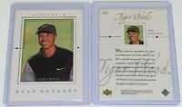 2001 Upper Deck Golf Gallery Tiger Woods #GG4 UD Golf PGA Tour Rookie Card RC