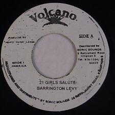 BARRINGTON LEVY: 21 Girls Salute VOLCANO Reggae 45 VG+ Hear