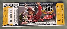 Dario Franchitti (2010 Winner) Signed Indianapolis Indy 500 Ticket 2011 Race