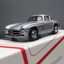 New 1/64 SCHUCO Mercedes Benz 300 300SL diecast car model silver red interior