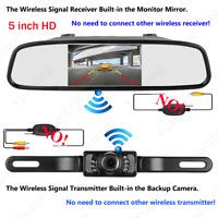 "Built-in Wireless Rear View 5"" TFT LCD Monitor Car Vehicle Reversing Kit Camera"