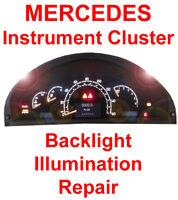 Mercedes W220 Speedometer Instrument Gauge Cluster Backlight Back Light REPAIR