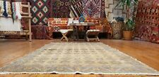 """Bohemian Antique Cr1900-1939's Muted Natural Dye 4""""× 6'6"""" Wool Pile Urgup Rug"""