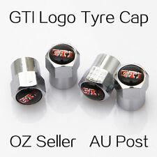 Volkswagen Golf GTI Logo Emblem Wheel Tyre Tire Cap Valve Stems Air Dust Cover S