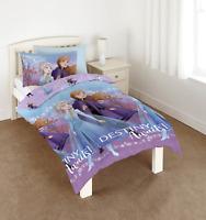 Disney Frozen 2 Duvet Quilt Single Reversible Bedding Cover Set Girls Bedroom