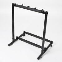 3 Guitar Rack Stand – Folding Three Multiple Stage Storage Bass Holder Mount DJ
