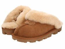 Women's Shoes UGG COQUETTE Sheepskin Slide Slippers 5125 CHESTNUT