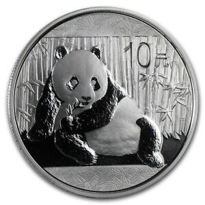 2015 China 1 oz Silver Panda Coin 10 Yuan BU in Capsule .999 Fine
