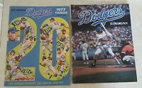 1977 LOS ANGELES DODGERS LOT YEARBOOK & PROGRAM SCORECARD MAGAZINE CARDINALS