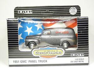 ERTL 2826 1/43 1951 GMC 3100 Panel Van Truck Silver Bird Diecast Model Car