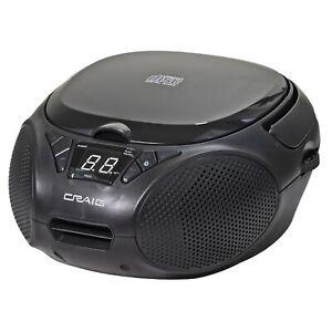 Craig CD6925BT-BK Portable CD Boombox w/ AM/FM Stereo Radio and Bluetooth, Black