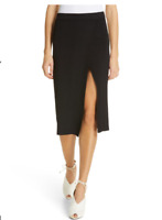$295 JONATHAN SIMKHAI Women's Eyelet Rib Wrap Pencil Skirt - Size M