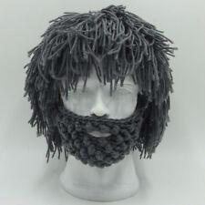 Barbarian Looter Knit Crochet Beanie Cap Winter Warm Beard Hat Moustache Cospaly